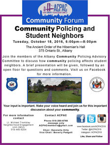 ACPAC student neighbors event poster