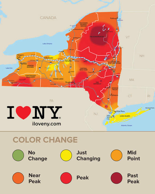 I Love NY foliage map 2016-10-13
