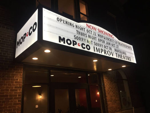 MopCo theater marquee night