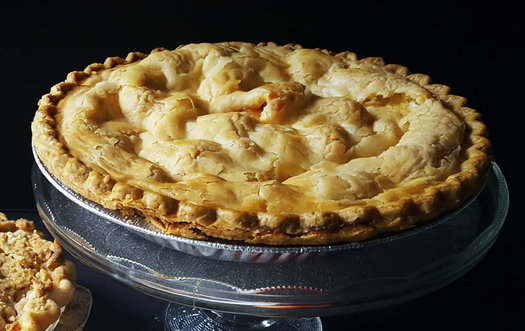 apple pie with top crust