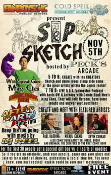 fanboys sip sketch pecks arcade poster