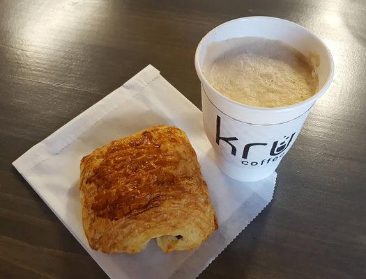 Kru coffee bullet latte overhead