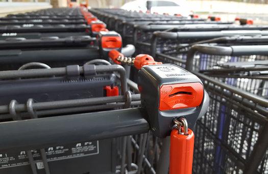 ALDI Colonie grocery carts