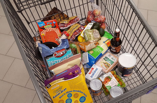 ALDI Deanna shopping cart contents