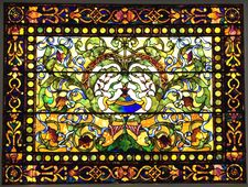 Canfield Casino stained glass window