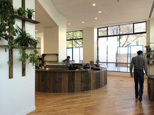 Stacks Espresso Arcade Building interior pre-opening