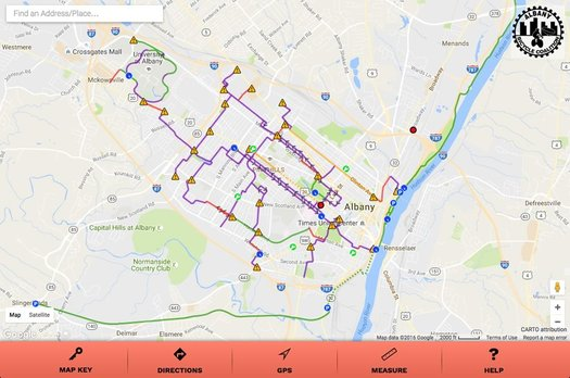 bike albany map finished screengrab
