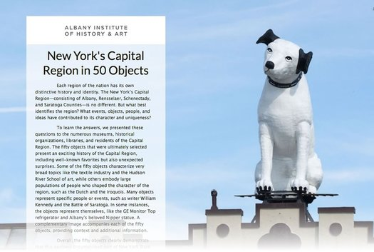 capital region 50 objects online exhibit screengrab