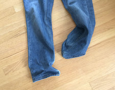 legs of a pair of jeans