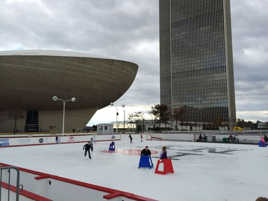 Empire State Plaza skating rink 2016-December