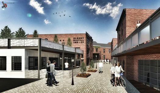 The Mill Schenectady draft rendering Mill Lane 2016-December