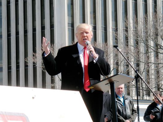 Donald Trump at Empire State Plaza 2014-April