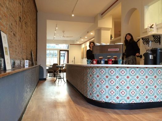 3 Fish Coffee front counter