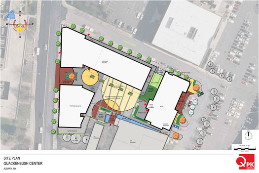 705 Broadway Quackenbush Center site plan