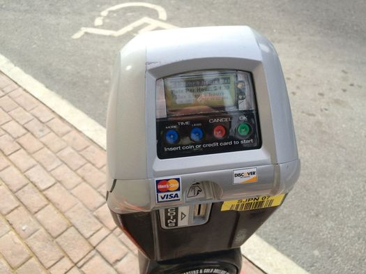 Albany credit card lollipop parking meter State Street 2017-January