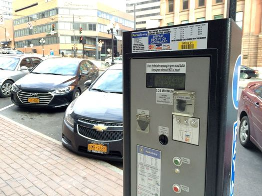 Albany pay and display meter State Street 2017-January