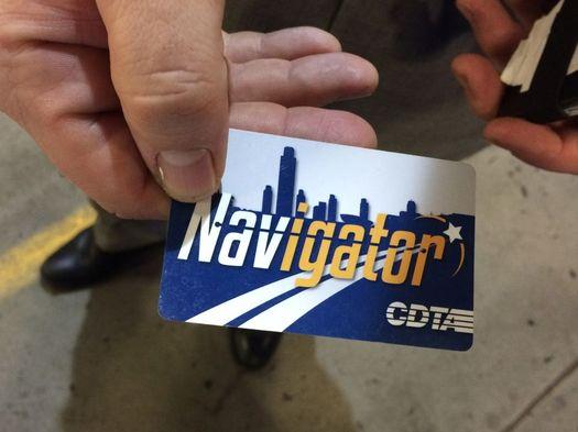 CDTA Navigator card in hand