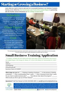 community loan fund business course poster
