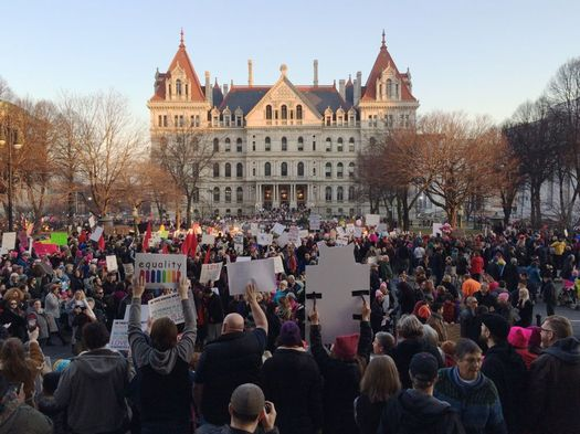 inaugurate resistance march Albany 2017-01-21