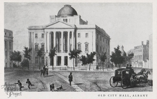 old 1832 Albany City Hall postcard