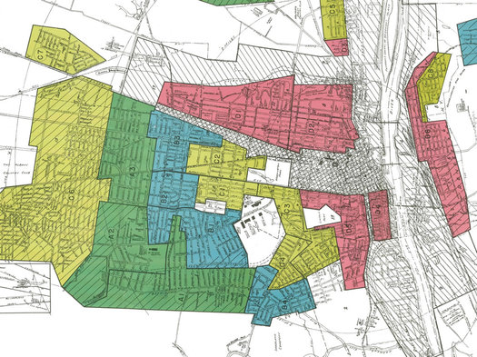 1938 HOLC map Albany east-west aligned