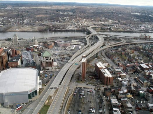 I-787 South Mall Expressway from Corning Tower 2017-January