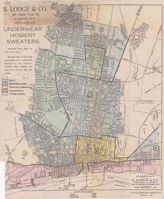 98 Acres Albany redlining HOLC 1936 map