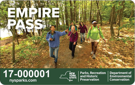 NYS Parks Empire Pass card
