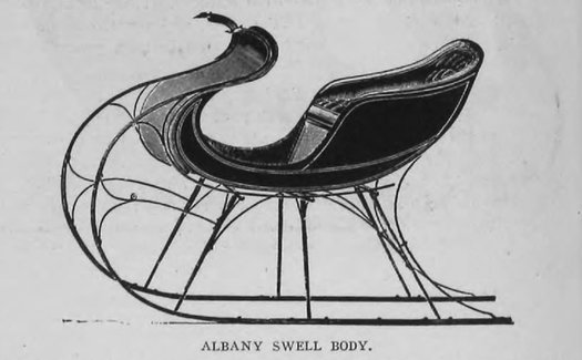 albany cutter sleigh illustration