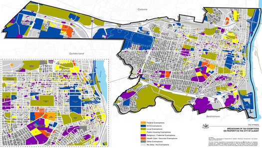 Albany untaxable properties map