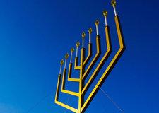 menorah blue sky background Flickr Ted Eytan CC