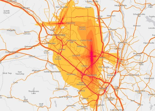 Capital Region transportation noise map