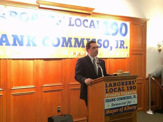 Frank Commisso Jr mayor announce