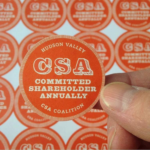 Hudson Valley CSA Coalition stickers