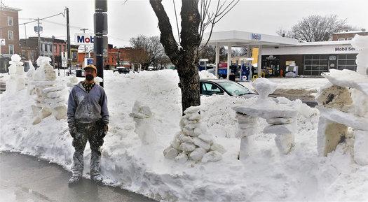 Madison Ave snow sculptures Douglas Rothschild