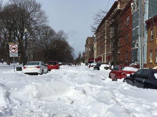 day after 2017 March blizzard Willett Street