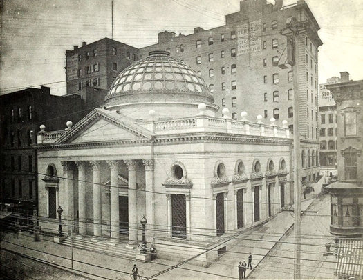 old Albany Savings Bank N Pearl Maiden Lane circa 1905