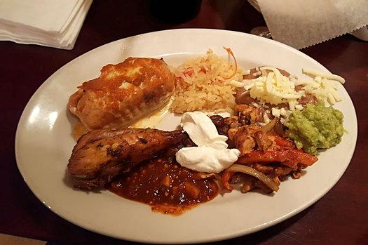 salsa latina buffet plate