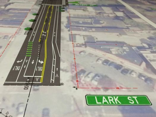 Madison Ave Road Diet phase 2 Lark diagram