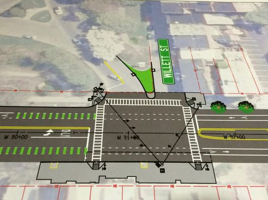 Madison Ave Road Diet phase 2 Willett diagram
