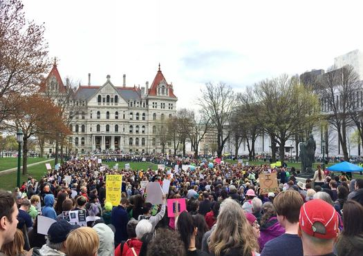 Albany March for Science crowd