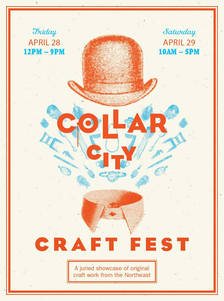 collar city craft fest 2017 poster