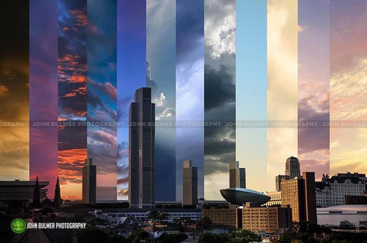 john bulmer albany skyline sunset composite
