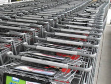 supermarket carts lined up