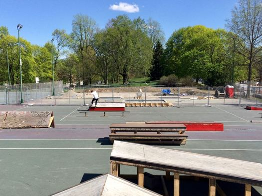 Albany skate park construction