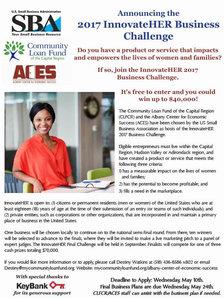 innovateHER challenge 2017 poster