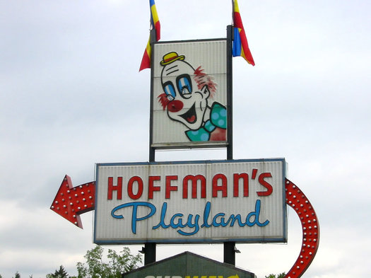old Hoffmans Playland sign