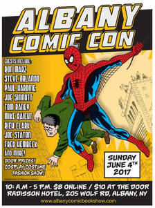 Albany Comic Con 2017 spring poster
