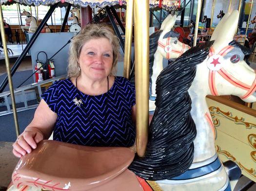 State Museum Carousel operator Ann Winnicki