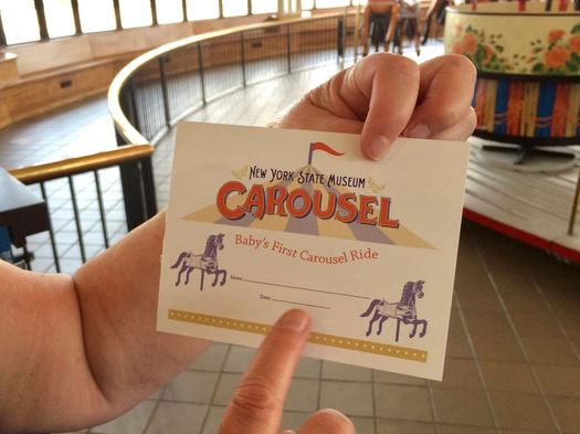 State Museum Carousel baby's first carousel ride certificate
